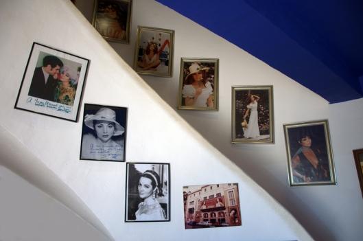 Fotos en la escalera