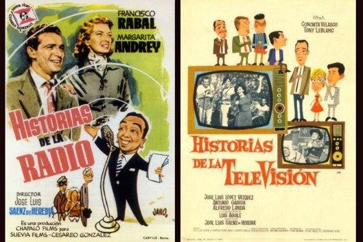 Historias de la radio, Historias de la televisión - largometrajes dirigidos por José Luis Saenz de Heredia
