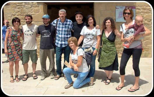 Pablo Berger y parte del equipo de las Jornadas de Cine Mudo de Uncastillo