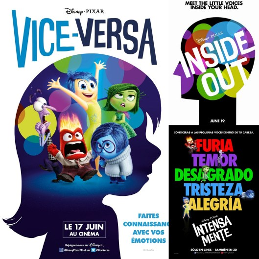 INSIDE OUT -Poster - Vice Versa - Intensa Mente - Pixar
