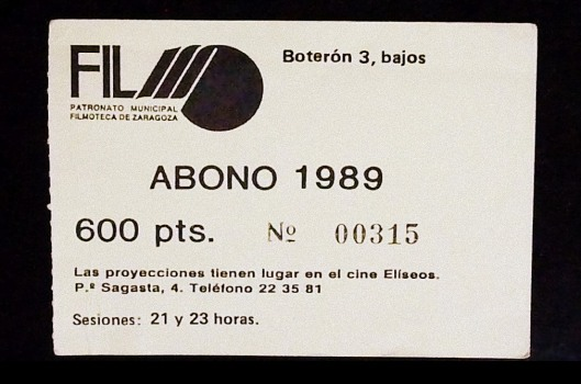 Bono Filmo Eliseos 1989-Atmosferacine