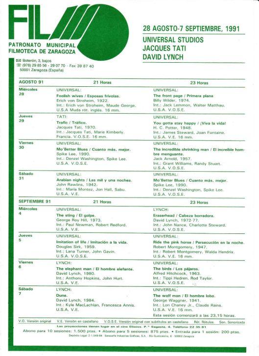 Filmoteca Eliseos-1991-Lynch-Atmosferacine