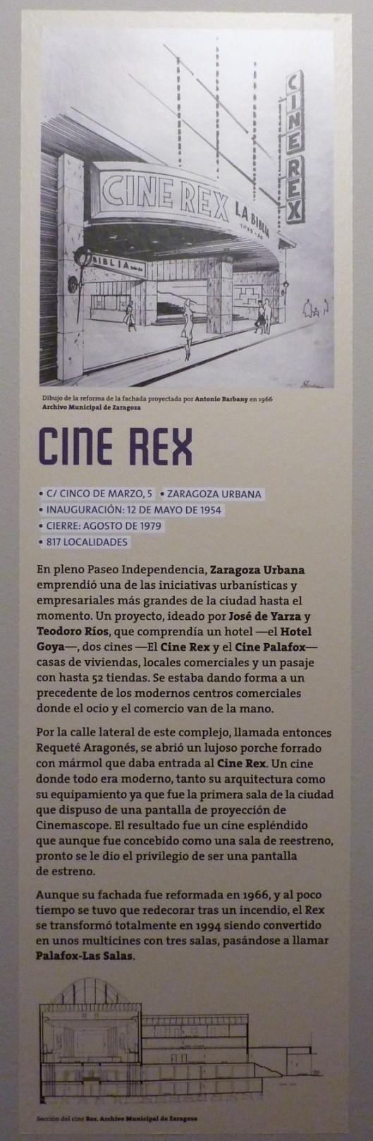 Cine Rex - Zaragoza Desaparecida