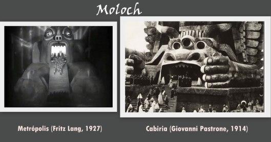 Dios Moloch en Cabiria y Metropolis