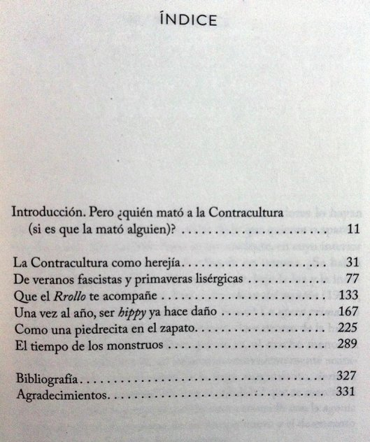 Jordi Costa_Libro 2018_Como acabar con la contracultura_Indice