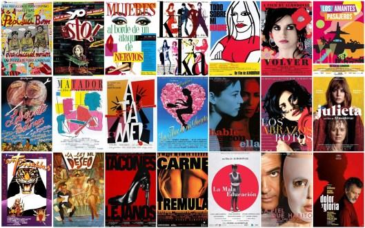 Carteles-Cine-Pedro Almodovar-Collage