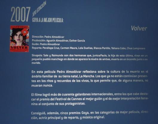 Premios Goya-Exposicion 25 aniversario-Madrid-Centro Cultural Fernan Gomez
