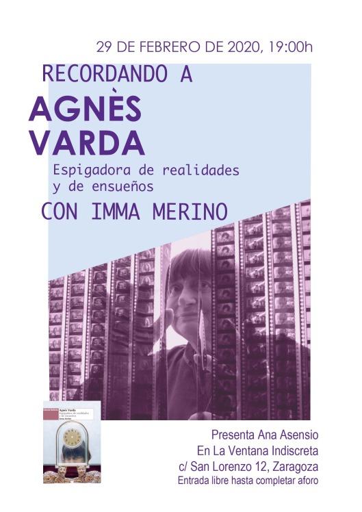 Agnes Varda-Libro de Imma Merino-La Ventana Indiscreta-Cartel de Maria Angeles Dominguez