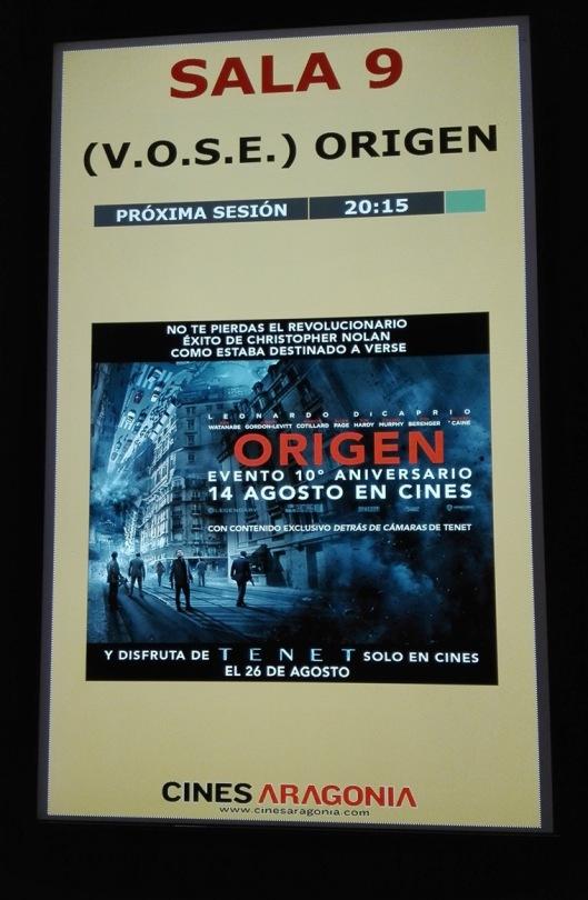 Cines Aragonia-Zaragoza-Origen-Inception-Christopher Nolan-Foto Atmosfera Cine