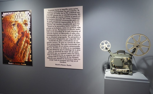Exposición cine-Centro Historias Zaragoza-Poema Beatriz Russo-Foto Atmosferacine