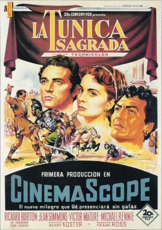 La túnica sagrada-Cinemascope y Technicolor