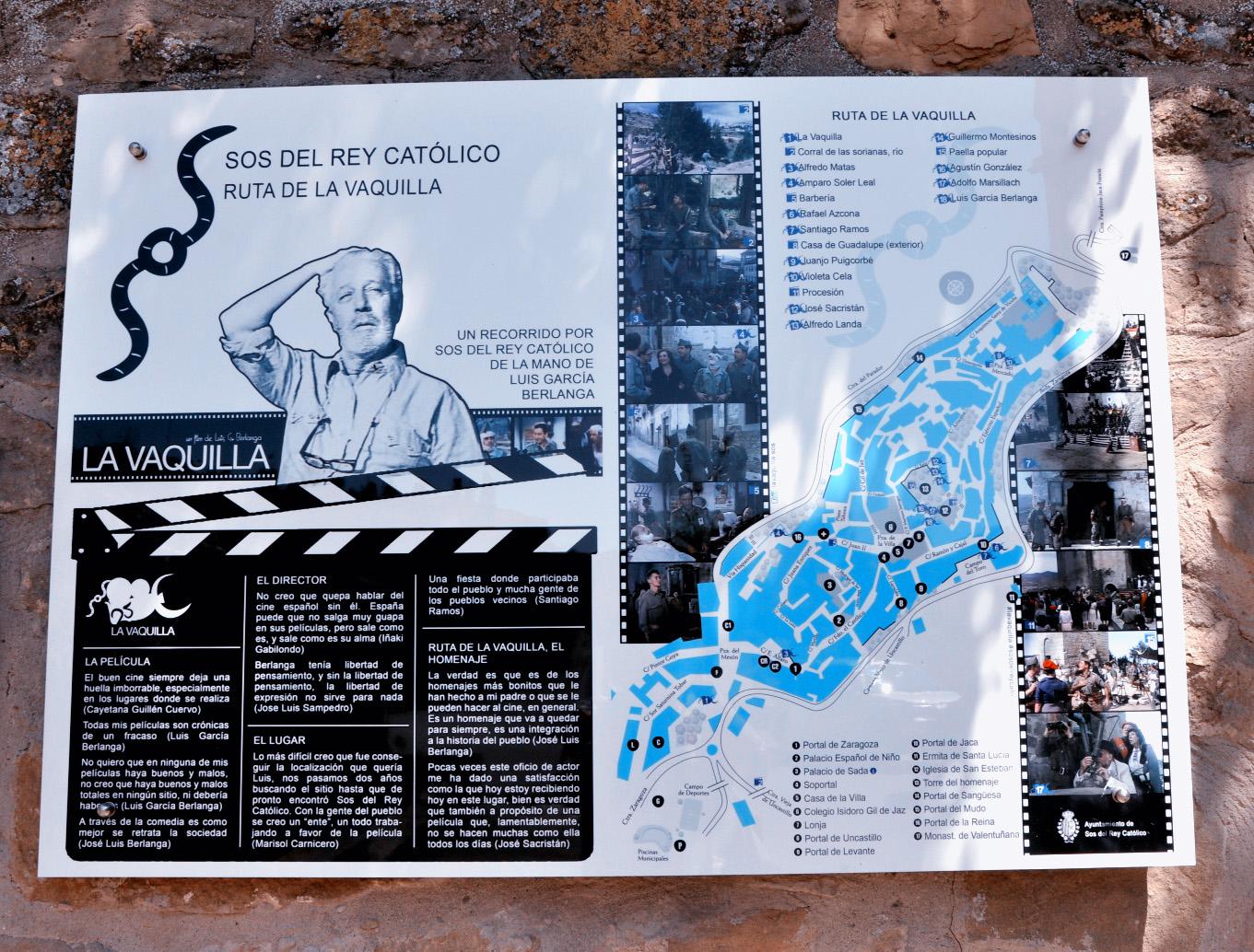 Sos Rey Catolico-Ruta La Vaquilla-Cartel-Foto AtmosferaCine