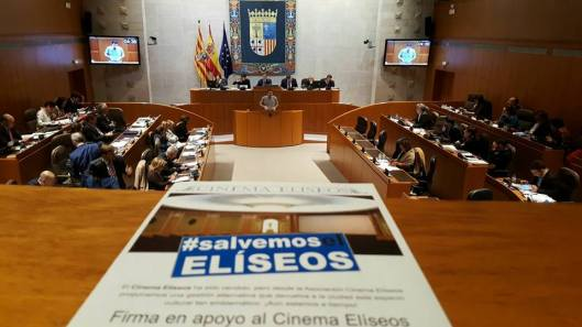 Salvemos Eliseos en las Cortes Aragón-Abril 2016