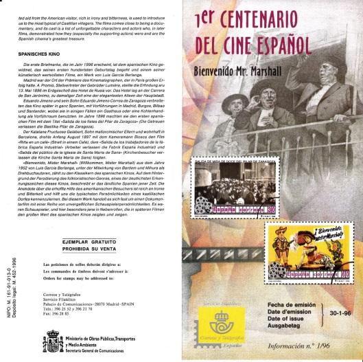 Correos-Sellos Centenario Cine Español-1996-Foto AtmosferaCine