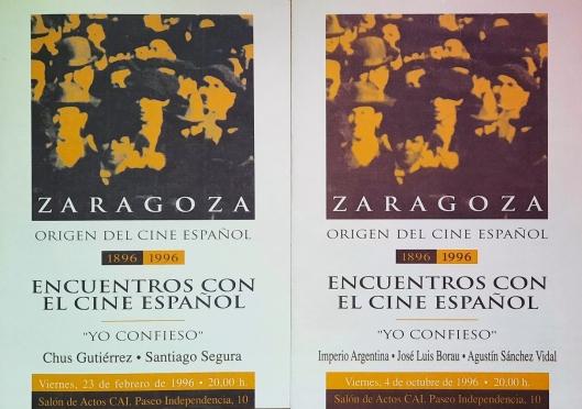 Encuentros con el cine español-Zaragoza-Ciclo Yo confieso-1996-Foto AtmosferaCine-