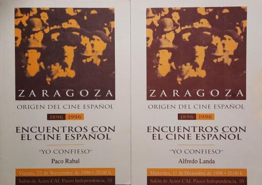 Encuentros con el cine español-Zaragoza-Ciclo Yo confieso-1996-Noviembre y Diciembre-Foto AtmosferaCine